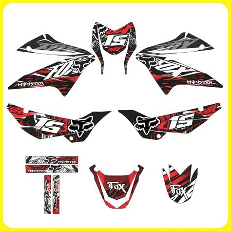 Sticker Tuning Para Motos by Tuning Motos Honda Xr 150 Monster Rockstar Fox Stickers