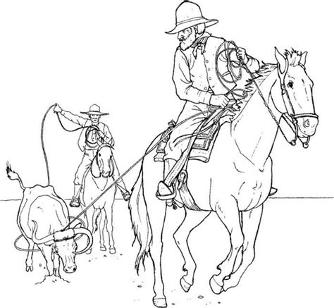 cowboy coloring pages free and printable coloring page cowboy coloring pages 4