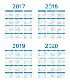 Calendario 2018 E 2019 Calend 225 2017 2018 2019 2020 Domingo Segundafeira Vetor
