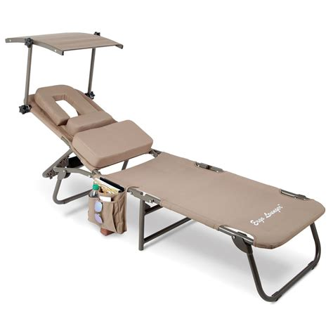 Sun Lounge Chair by The Removable Shade Ergonomic Lounger Hammacher