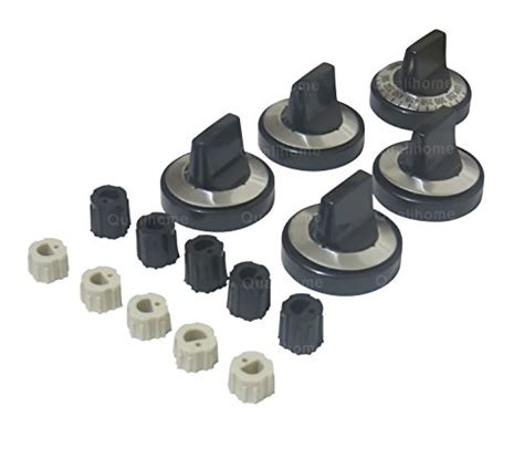 Gas Range Replacement Knobs by New 5 Pcs Gas Range Knob Set Replacement Black With Silver