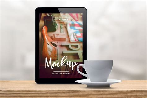 tablet template psd coffee cup tablet ereader mockup template psd book