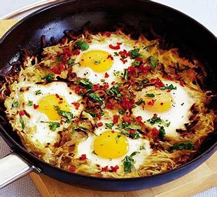 egg recipes potato cake with chilli eggs food
