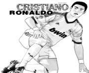 dessin de foot de ronaldo coloriage cristiano ronaldo football real madrid cr7