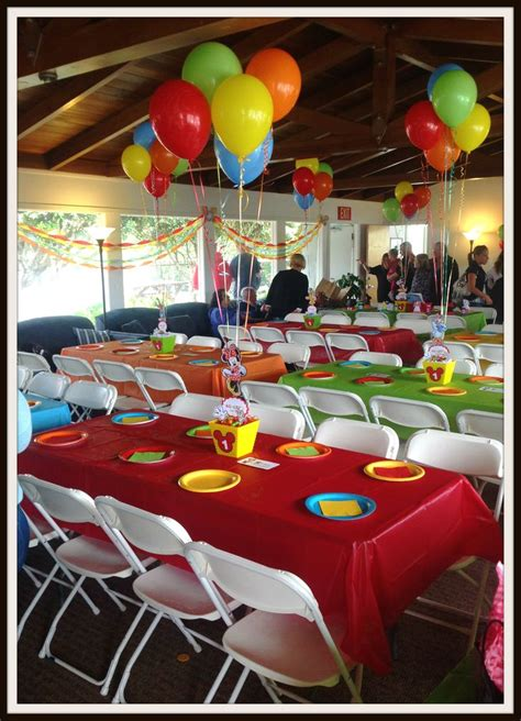 mickey s clubhouse table set up just lovely favors