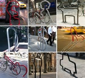 david byrne s artful bike racks