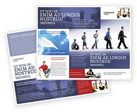 education and development brochure template design and