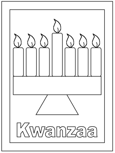 coloring pages for kwanzaa candle holder kwanzaa candles coloring pages download and print for free