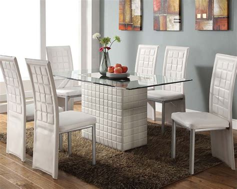 White Dining Set White Dining Set Abbie By Acme Furniture Ac70718set