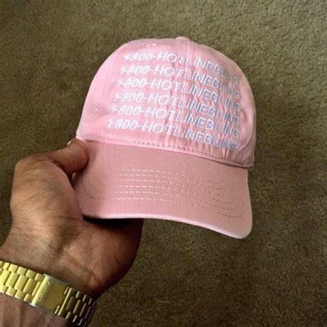Baseball Cap Hotlinebling hat hotlinebling ovoxo vintage pink