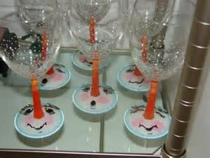 Homemade Personalized Christmas Ornaments - snowmen wine glasses