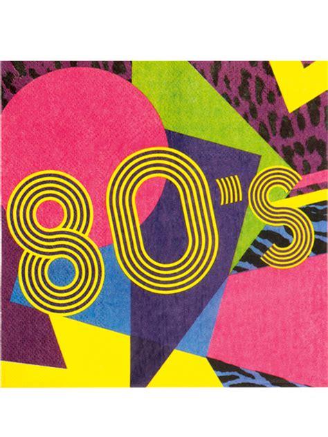 the best anni 80 12 tovaglioli di carta anni 80 addobbi e vestiti