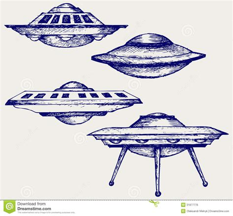 space flying saucer stock vector image of isolated
