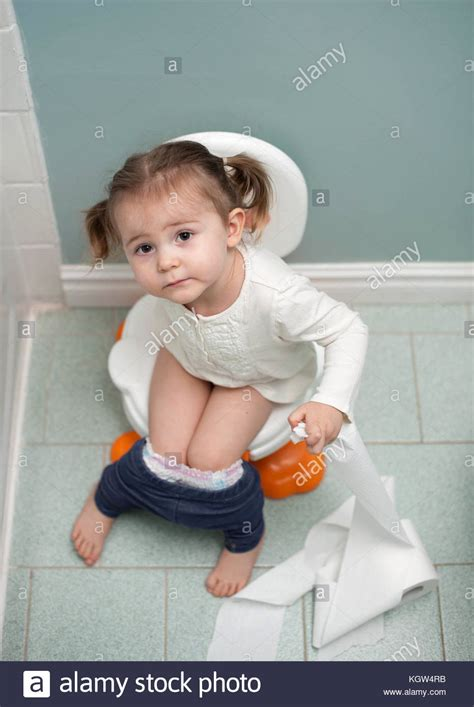 girl on toilet potty training toilet waiting young stock photos toilet waiting young