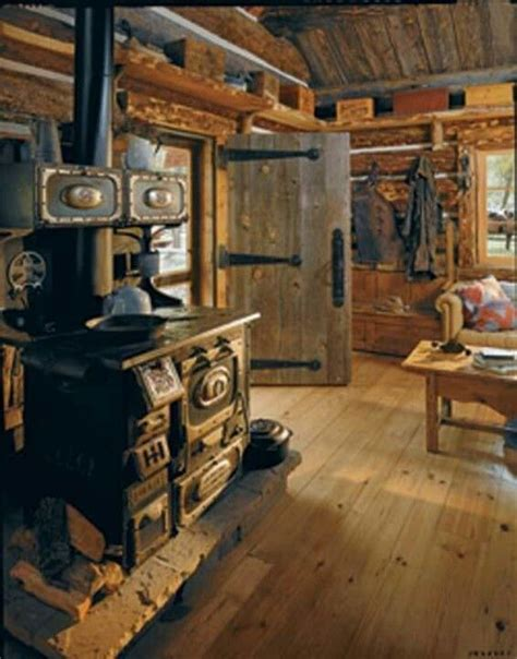 Log Cabin With Wood Burning Stove by The Stove Rustic Wannabe
