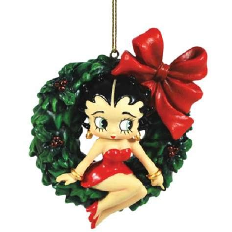 wreath betty boop christmas ornament new westland