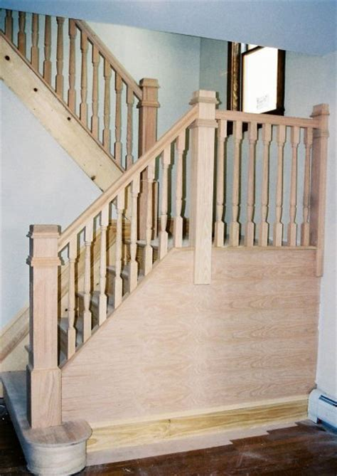 Wood Banisters by Wood Balusters Stair Rail Design