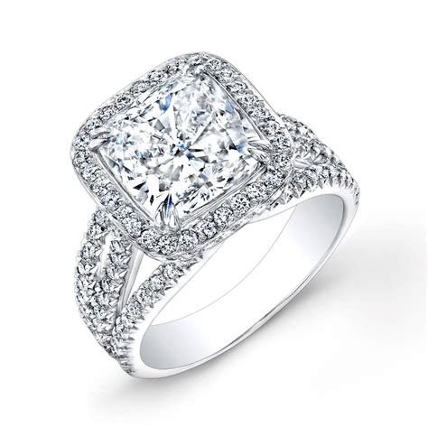 cushion cut halo engagement rings 1000 10 00 carat cushion cut halo engagement ring