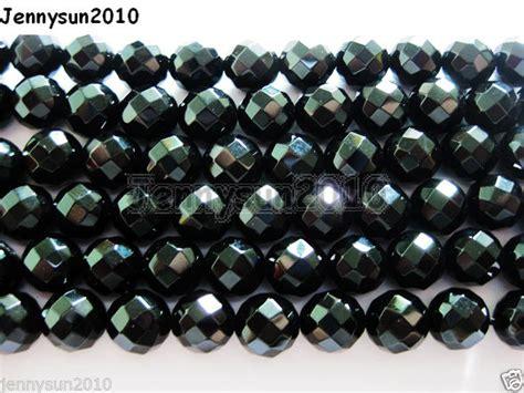 Gelang Black Onyx 10 Mm 6 black onyx gemstone faceted 2mm 3mm 4mm 6mm 8mm 10mm 12mm jennysun2010
