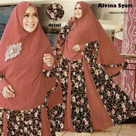 Setelan Baju Syari model baju setelan gamis syari modern terbaru motif bunga