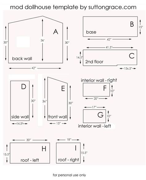 doll house floor plans cardboard dollhouse patterns woodworking projects plans