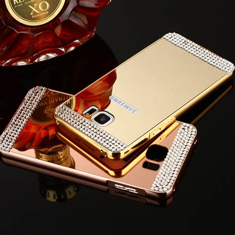 Luxury Aluminium Bumper Mirror Samsung A3 A300 A3 20 Limited mirror pc back cover metal frame bumper for