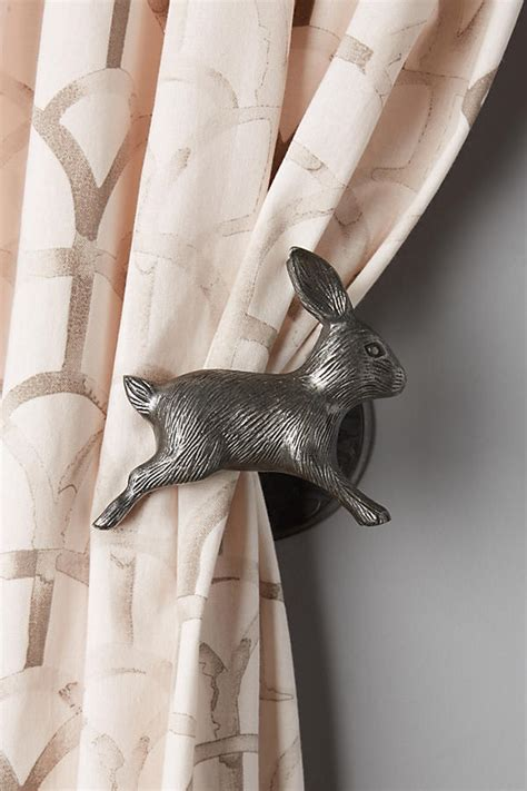rabbit curtain tie backs curious rabbit tieback anthropologie