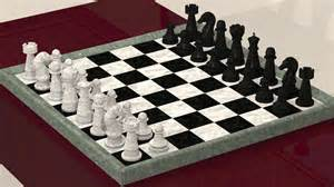chess board chess board with pieces 3d model 3d printable obj cgtrader com