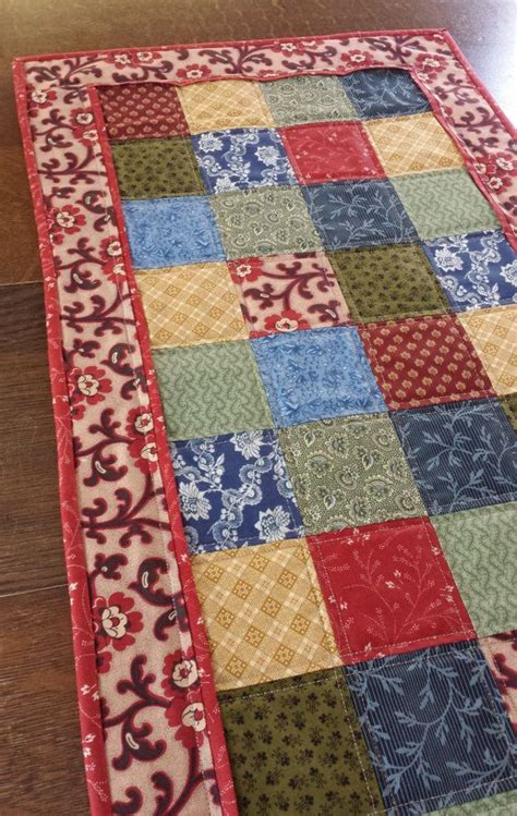 Patchwork Runner - table runner quilted table runner country table runner