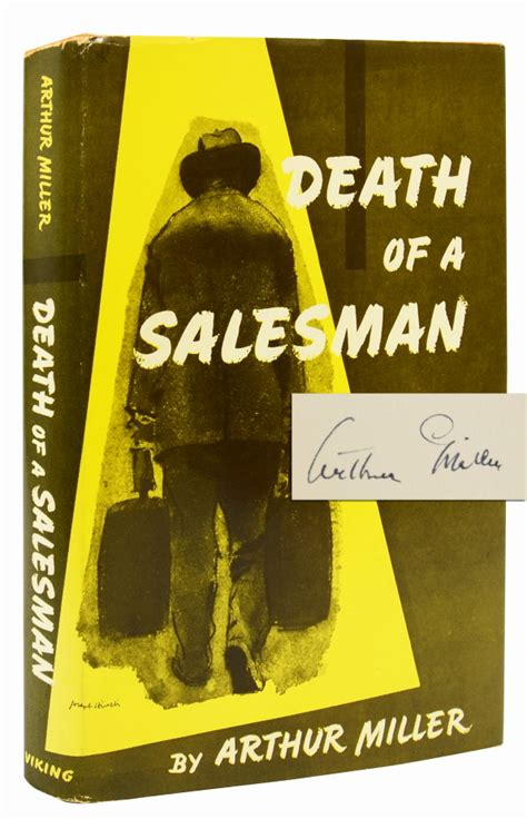 themes in death of a salesman by arthur miller death of a salesman signed first edition arthur miller