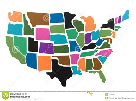 usa map puzzle free usa map puzzle outline royalty free stock photography