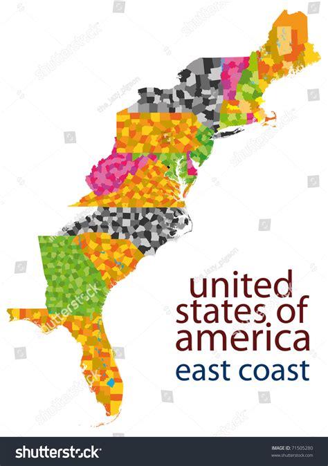 map east coast of usa usa east coast map stock illustration 71505280