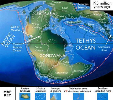 jurassic map america pangaea the supercontinent