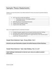 Thesis Statement Template by Thesis Statement Template Sadamatsu Hp