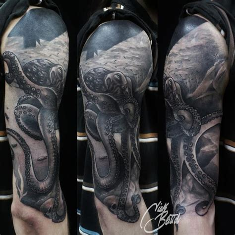 octopus sleeve tattoo gray octopus half sleeve tattoos i and or want