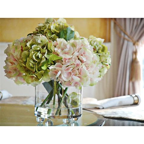 hydrangea home decor faux hydrangea arrangement home decor pinterest