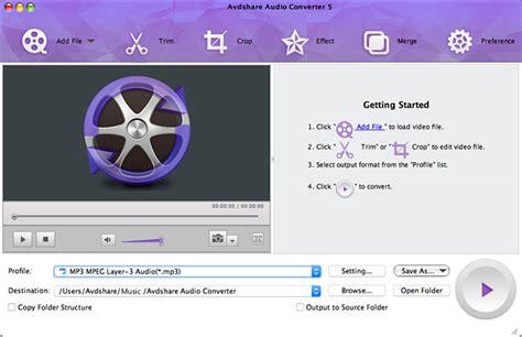 best audio converter mac avdshare audio converter for mac 7 0 4 6443 screenshot