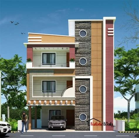 House Plan For 15 Feet By 60 Feet 3d front elevation design indian front elevation kerala
