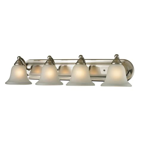 brushed nickel bathroom light bar titan lighting 4 light bath bar in brushed nickel the