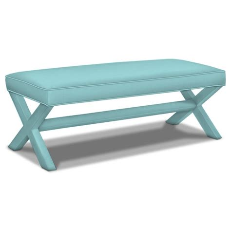 jonathan adler x bench jonathan adler double x bench everything turquoise