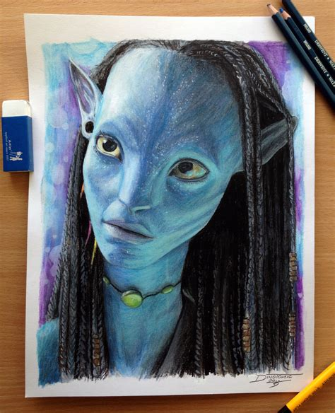 neytiri color pencil drawing by atomiccircus on deviantart