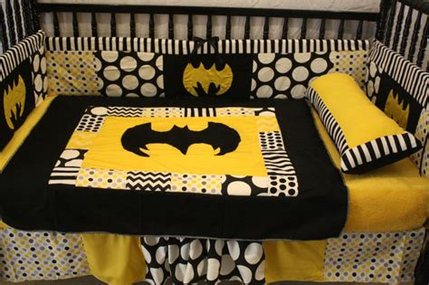 Batman Nursery Bedding by Black Chevron Batman Crib Bedding