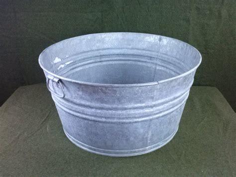 galvanized wash tub vintage galvanized no 2 wash tub ebay