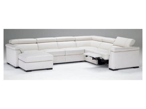 natuzzi living room modern italian leather sectional b634