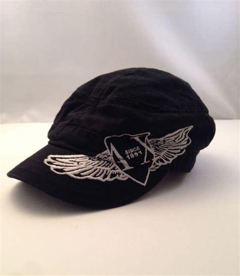 armani exchange ax type cap hat black white