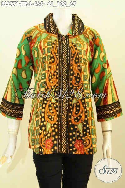 desain baju wanita lengan panjang baju batik wanita kerja kantor modern dan terbaru toko
