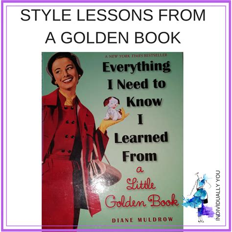 lessons from my books style lessons from a golden book individually you