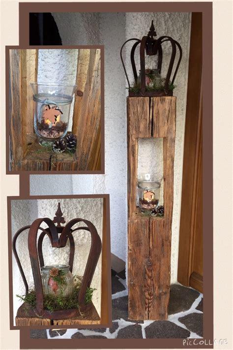 Gartendeko Aus Altem Holz by Altholz Holz Deko Herbst Natur Holzlaterne Aus Alten