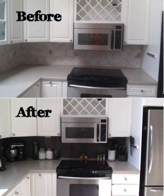 kitchen backsplash rev using peel and stick vinyl