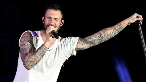 adam levine back tattoo adam levine reveals a back that was 6 months